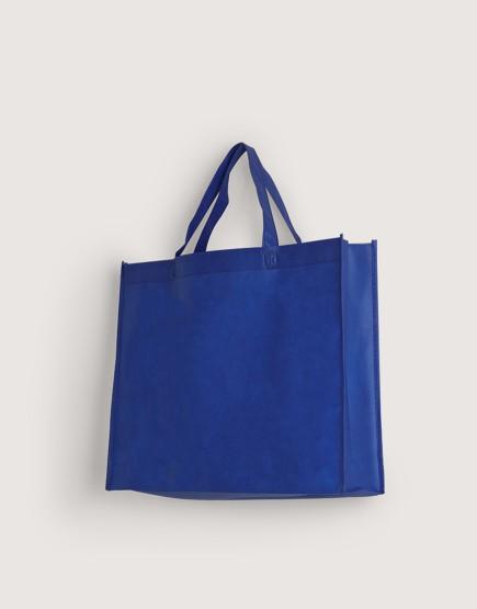 不織布橫式袋│有底有側│深藍色