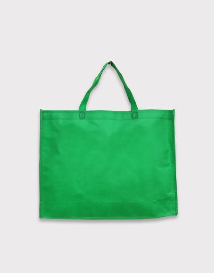 不織布橫式袋│有底有側│深綠