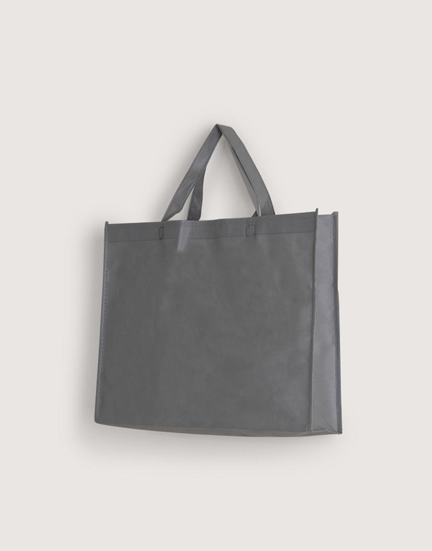 不織布橫式袋│有底有側│灰色