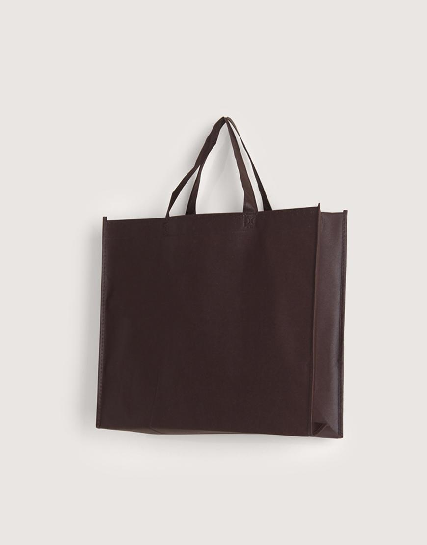 不織布橫式袋│有底有側│咖啡色