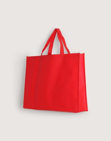 不織布橫式袋│有底有側│紅色