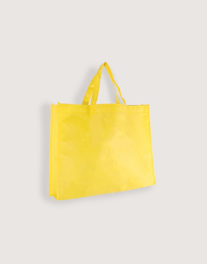 不織布橫式袋│有底有側│黃色