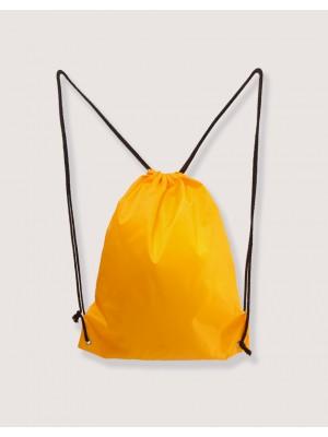 束口後背包 黃色 210D尼龍