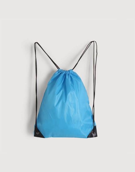 尼龍布210D-水藍色│束口後背包│束口袋