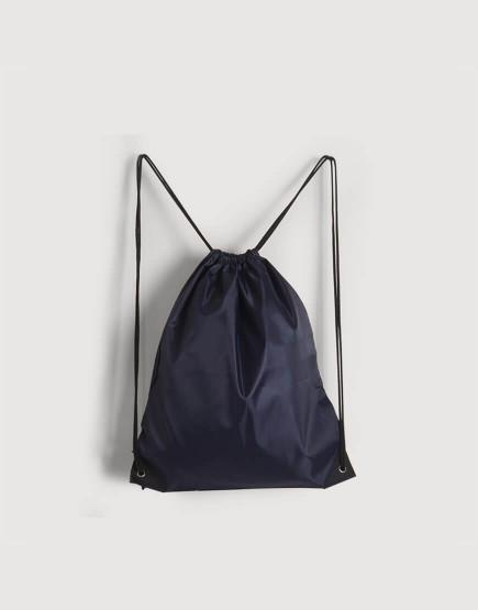 尼龍布210D-深藍色│束口後背包│束口袋