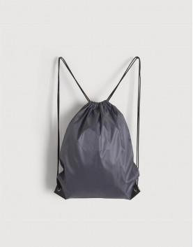 尼龍布210D-深灰色│束口後背包│束口袋