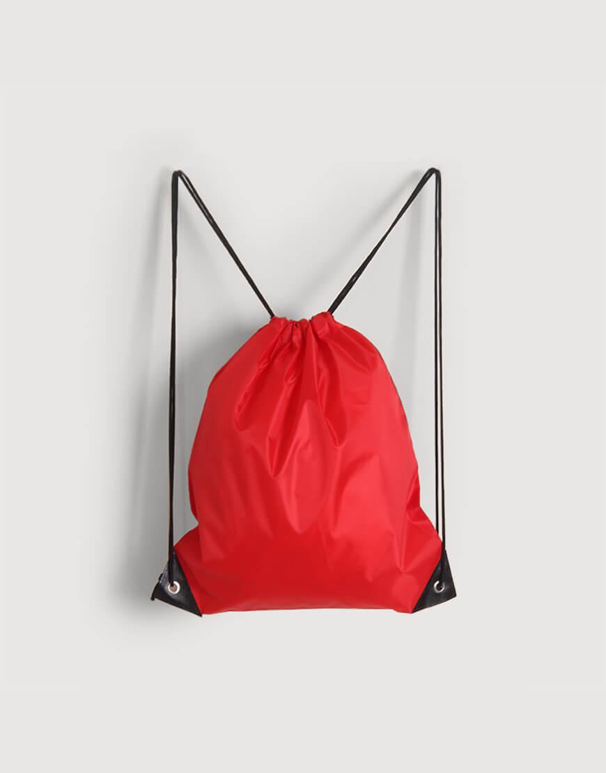 尼龍布210D-紅色│束口後背包│束口袋