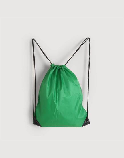 尼龍布210D-綠色│預定款│束口後背包│束口袋