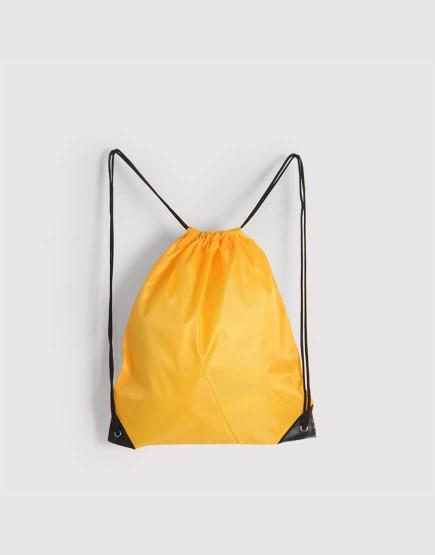 尼龍布210D-黃色│束口後背包│束口袋