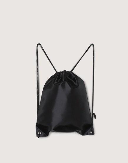 尼龍布420D-黑色│束口後背包│束口袋