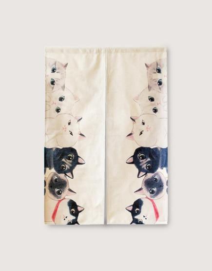 現成門簾 | 偷偷看著你-貓咪 | 布簾