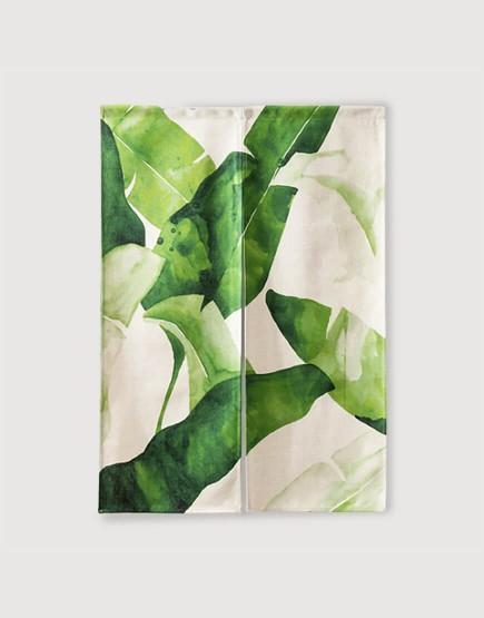 現成門簾 | 水彩風 熱帶芭蕉葉 | 布簾