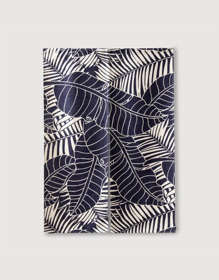 預購門簾 | 藍白叢林芭蕉葉 | 布簾