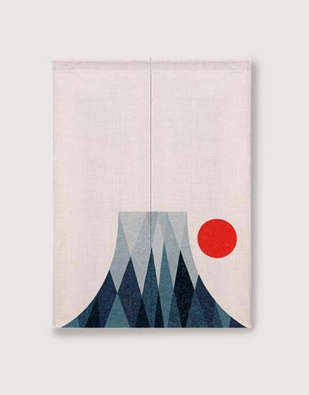 預購門簾 | 富士山與太陽 | 布簾