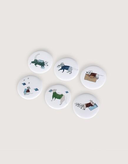 胸章 | 動物郵差 | 小尺寸 | 12入