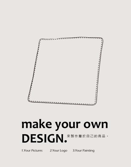 客製服務 | 小方巾 30*30cm | 單面印刷