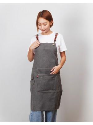 | 缺貨 | 牛仔圍裙吊環皮件圍裙 - 3色