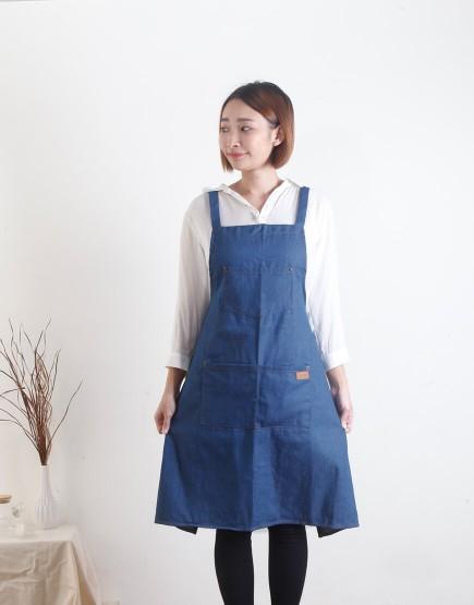 全棉牛仔圍裙 - 3色