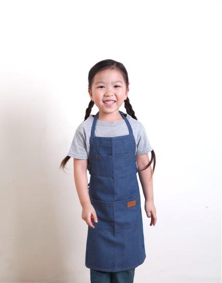 I 兒童款 I 全棉牛仔圍裙 - 3色