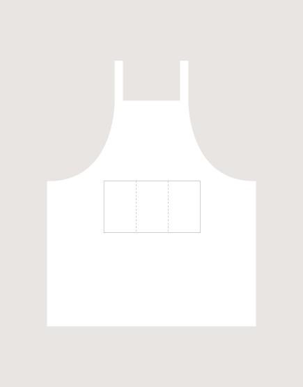 客製圍裙印製 | 混紡布三口袋 | 背帶式