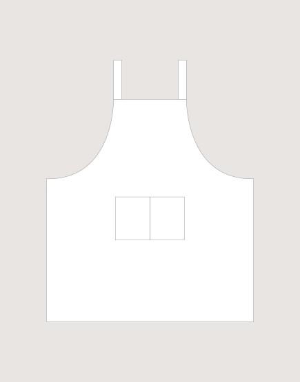 客製圍裙印製 | 純棉雙口袋 | 背帶式