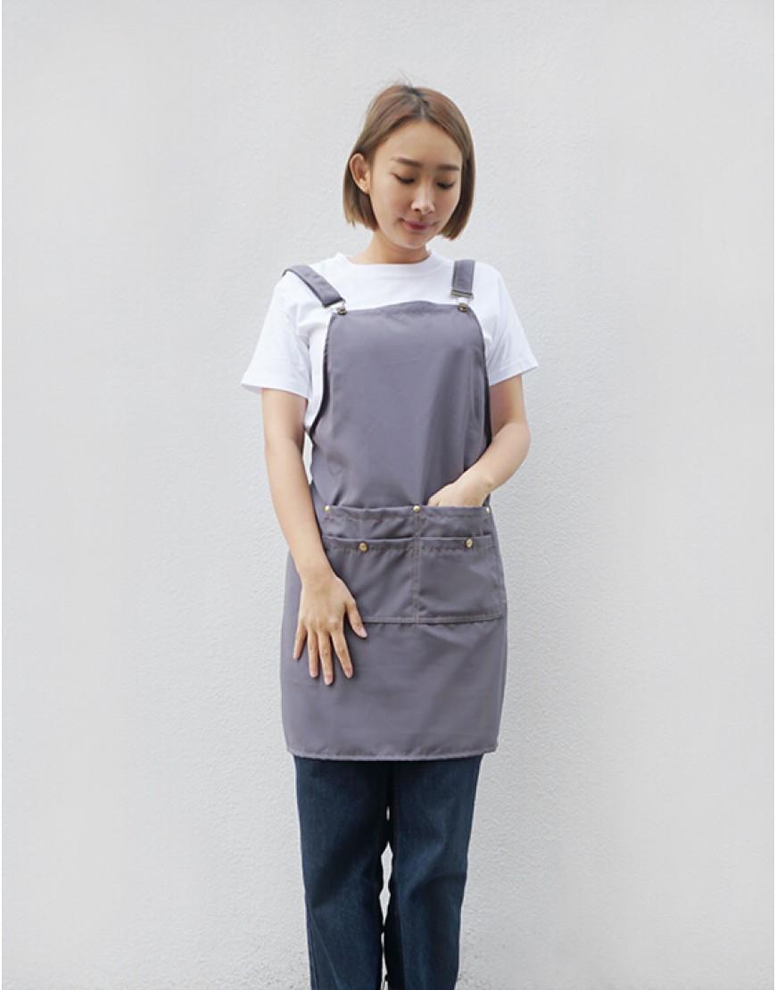 防水防污背帶式四口袋圍裙 - 8色