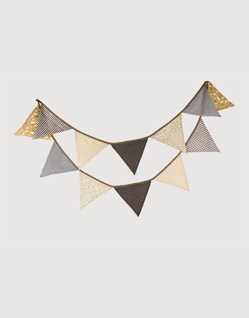 棉布 | 咖啡點點 | 三角旗