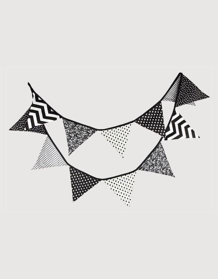 棉布 | 黑白 | 三角旗