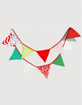 棉布 | 耶誕點點 | 三角旗