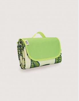 野餐墊   綠葉子   手提式牛津布防水防潮野餐墊