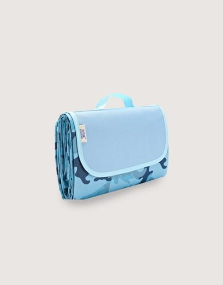 野餐墊 | 迷彩藍 | 手提式牛津布防水防潮野餐墊