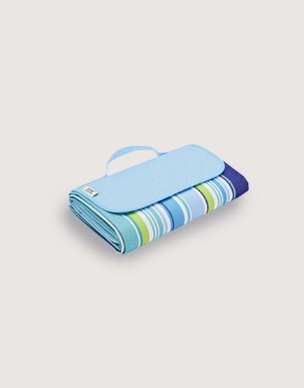 野餐墊 | 藍色條紋 | 手提式牛津布防水防潮野餐墊