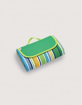 野餐墊 | 草綠條紋 | 手提式牛津布防水防潮野餐墊