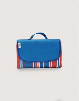 野餐墊   紅藍條紋   手提式牛津布防水防潮野餐墊