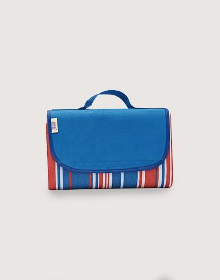 野餐墊 | 紅藍條紋 | 手提式牛津布防水防潮野餐墊