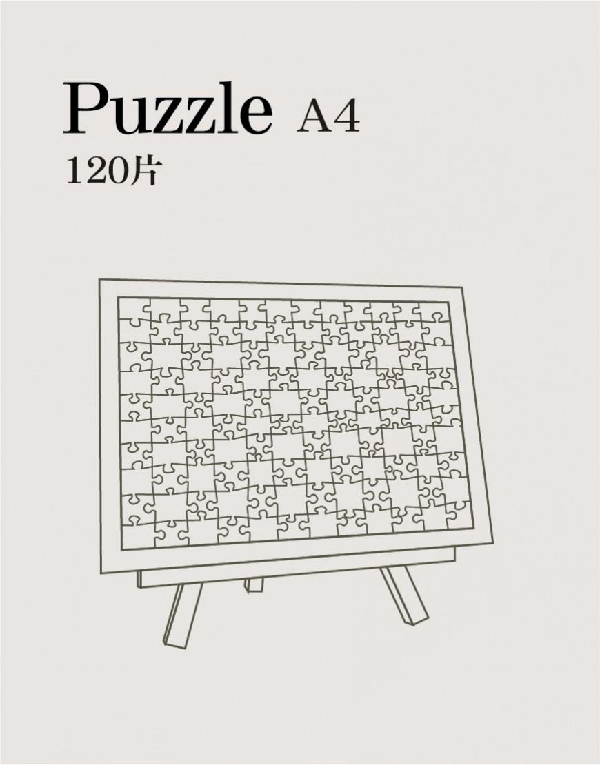 磁鐵拼圖 A4 (120片)
