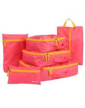 粉色6件組 旅行收納袋分類整理包
