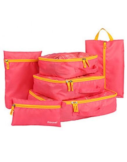 03粉色6件組 旅行收納袋分類整理包