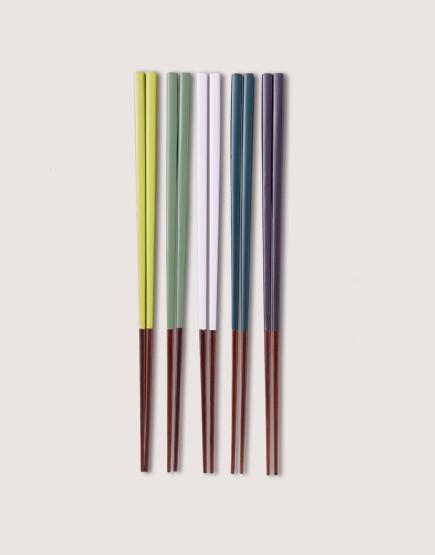 日式實木筷5雙組