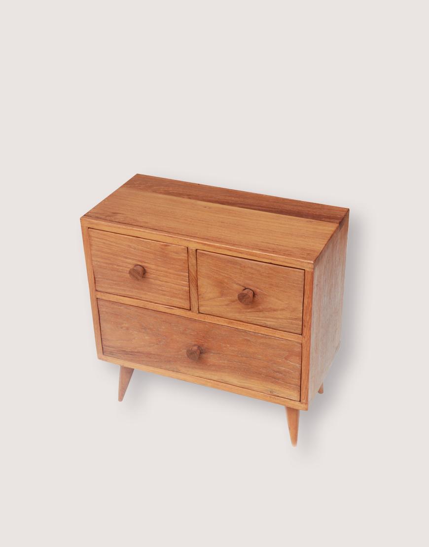 木製品 | 方腳櫃 | 2+1抽