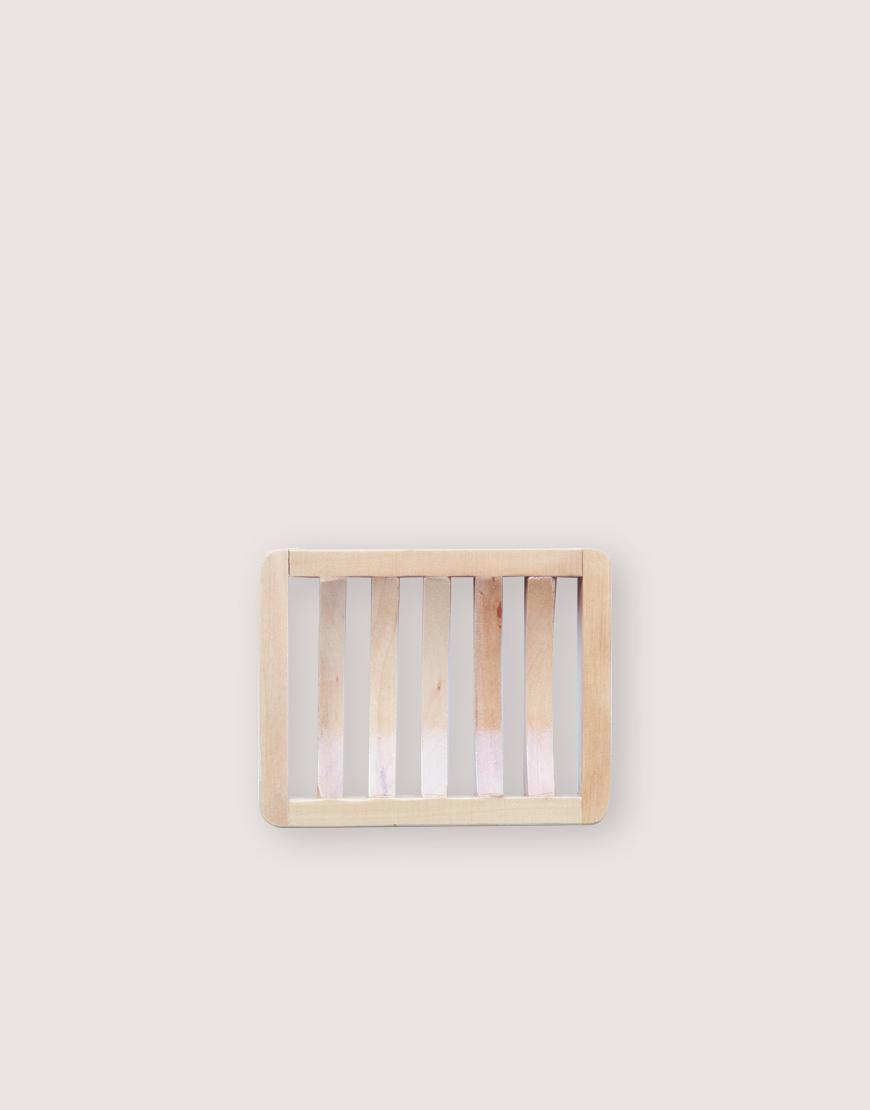 木製品   皂盤   條紋微彎款