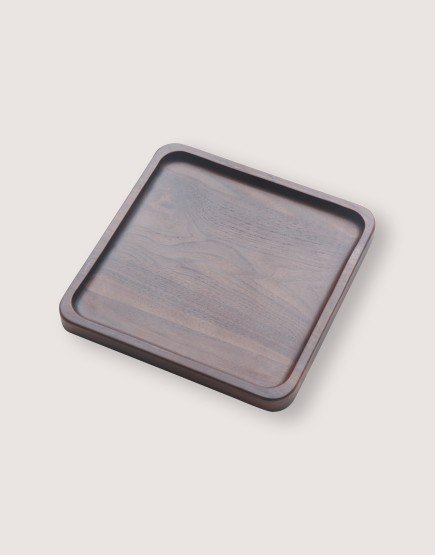 木製品 | 方形胡桃木托盤