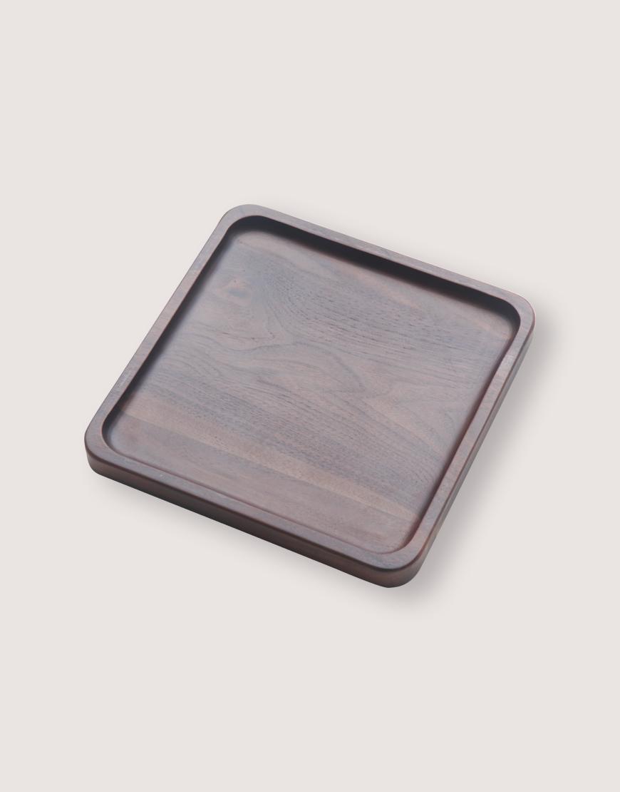 木製品   方形胡桃木托盤