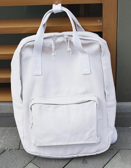 雙肩後背包 | 多色帆布 | 白色