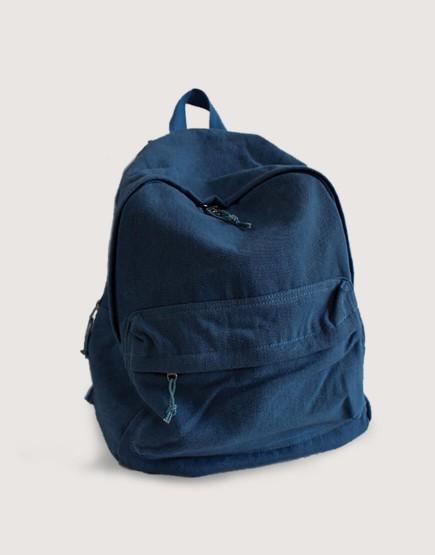 雙肩後背包 | 帆布 | 牛仔深藍色