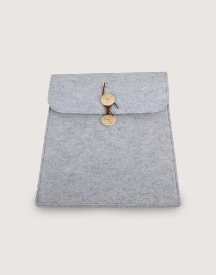 羊毛氈平板套 | 直式平板套 | 灰色