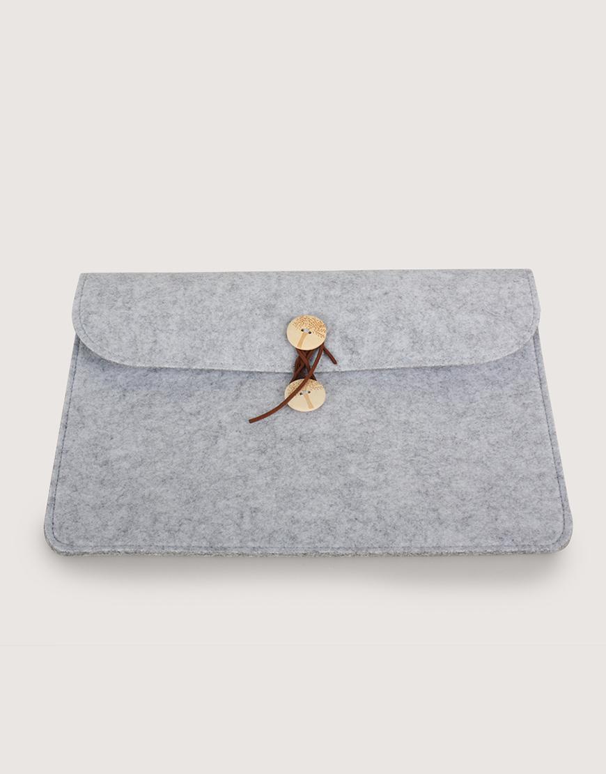 羊毛氈平板套 | 橫式平板套 | 灰色