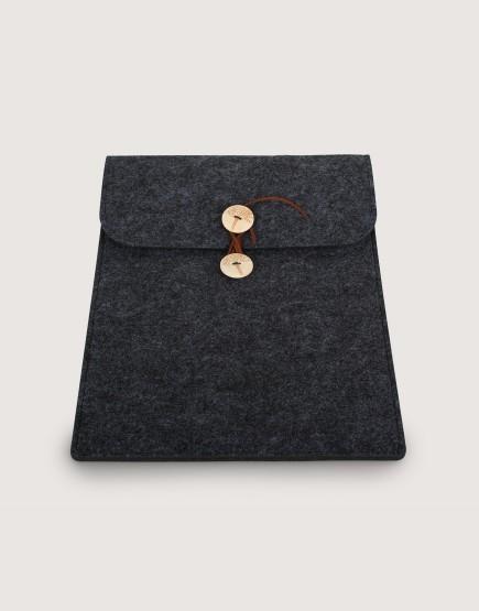 羊毛氈平板套 | 直式平板套 | 深灰色