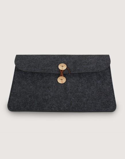 羊毛氈平板套 | 橫式平板套 | 深灰色