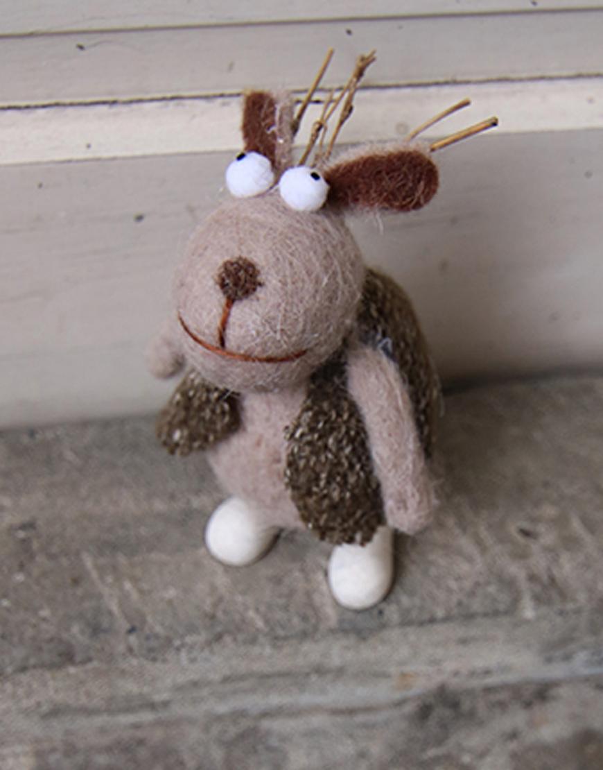 家飾擺設   玩偶   穿背心的麋鹿